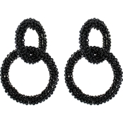 Panacea Seed Bead Hoop Link Earrings