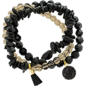 Panacea Black Stretch Bracelet Set