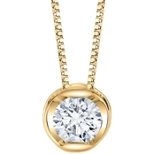 Sirena 14K Yellow Gold 1/5 ct. Diamond Pendant