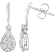 Love Honor Cherish 10K White Gold 1/2 CTW Diamond Stud Earrings