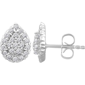 Love Honor Cherish 10K White Gold 1/2 CTW Diamond Pear Earrings