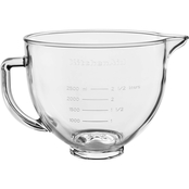 KitchenAid 5 qt. Tilt Head Glass Bowl with Measurement Markings & Lid