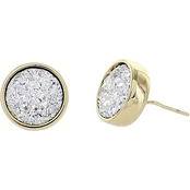 Panacea Compressed Druzy Stud Earrings