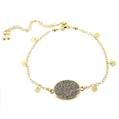 Panacea Compressed Druzy Adjustable Bracelet