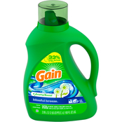 Gain Liquid Laundry Detergent AromaBoost, Blissful Breeze, 100 fl oz 64 loads