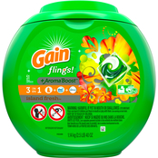 Gain flings! Liquid Laundry Detergent Pacs, Island Fresh, 51 count