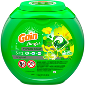 Gain flings! Liquid Laundry Detergent Pacs, Original, 51 count