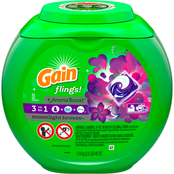 Gain flings! Liquid Laundry Detergent Pacs, Moonlight Breeze, 51 count