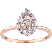 Diamore 14K Rose Gold 1/4 CTW Diamond Cluster Pear Fashion Ring