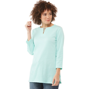 Passports Crinkle Knit Top