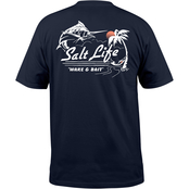 Salt Life Wake and Bait Pocket Tee
