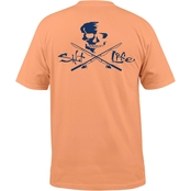 Salt Life Skull and Poles Pocket Tee