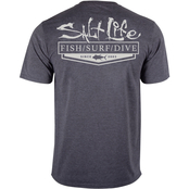 Salt Life Essential Heathered Performance Tee