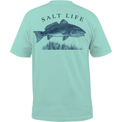 Salt Life Reeling Reds Pocket Tee