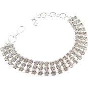 Buddy G's Three Row Rhinestone Collar