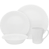 Corelle Embossed Enhancements Dinnerware 16 pc. Set