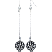 jules b Fire Ball Linear Drop Earrings