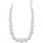 jules b Graduated Faux Pearl Beaded Short Necklace