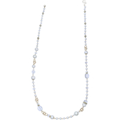 Jules b Faux Pearl Long Necklace