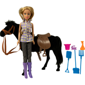 Chic Dolls Western Doll and Horse Set