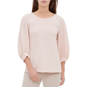 Calvin Klein Long Balloon Sleeve Printed Top
