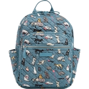 Vera Bradley Small Backpack, Cats Meow
