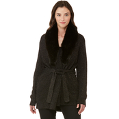 Michael Kors Fur Collar Trimmed Cardigan