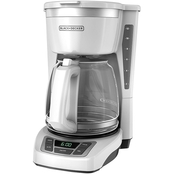 Black & Decker 12 Cup Programmable Coffeemaker White