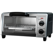 Black & Decker 4 Slice Toaster Oven with Easy Controls