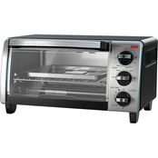 Black & Decker 4-Slice Toaster Oven with Convection, Black & Silver