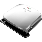 George Foreman 4 Serving Removable Plate Electric Grill Panini Press