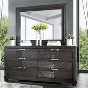Furniture of America Argyros 6 Drawer Dresser and Mirror