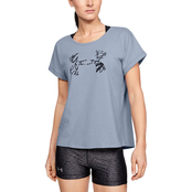 Under Armour Graphic Script Logo Fashion Crew Tee