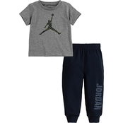 Jordan Infant Boys 23 Speckle Tee and Jogger Set