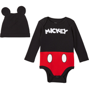 Disney Infant Boys Mickey Mouse 2 pc. Creeper and Hat Set