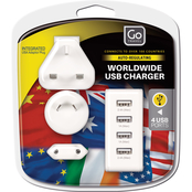 Go Travel Worldwide USB 4 Port Charger