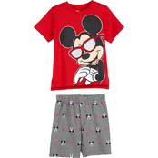 Disney Toddler Boys Mickey Mouse Printed Shorts Set