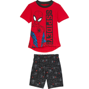 Marvel Infant Boys Spider-Man 2 pc. French Terry Shorts Set