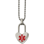 Stainless Steel Small Heart Medical Pendant