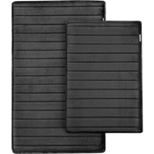 Microdry Charcoal-Infused Memory Foam Bath Mat with GripTex Base 2 pc. Set
