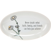 Pavilion Faith Hope and Healing Never Doubt Keepsake Dish