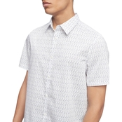 Calvin Klein Jeans Stretch Cotton Printed Shirt