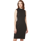 Calvin Klein Collared Polka Dot Sheath Dress