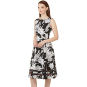 Calvin Klein Allover Print Fit N Flare Dress