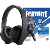Sony Fortnite Neo Versa Gold Wireless Headset Bundle