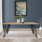 Abbyson Selby Mid Century Wood Dining Table