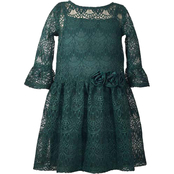 Bonnie Jean Little Girls Lace Dress with Flowers