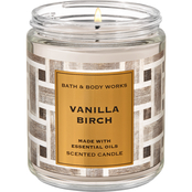 Bath & Body Works Nordic Decor: Single Wick Candle Vanilla Birch