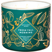 Bath & Body Works Autumn Glow: 3 Wick Candle Fresh Fall Morning