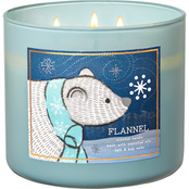Bath & Body Works Nordic Critters: 3 Wick Candle Flannel